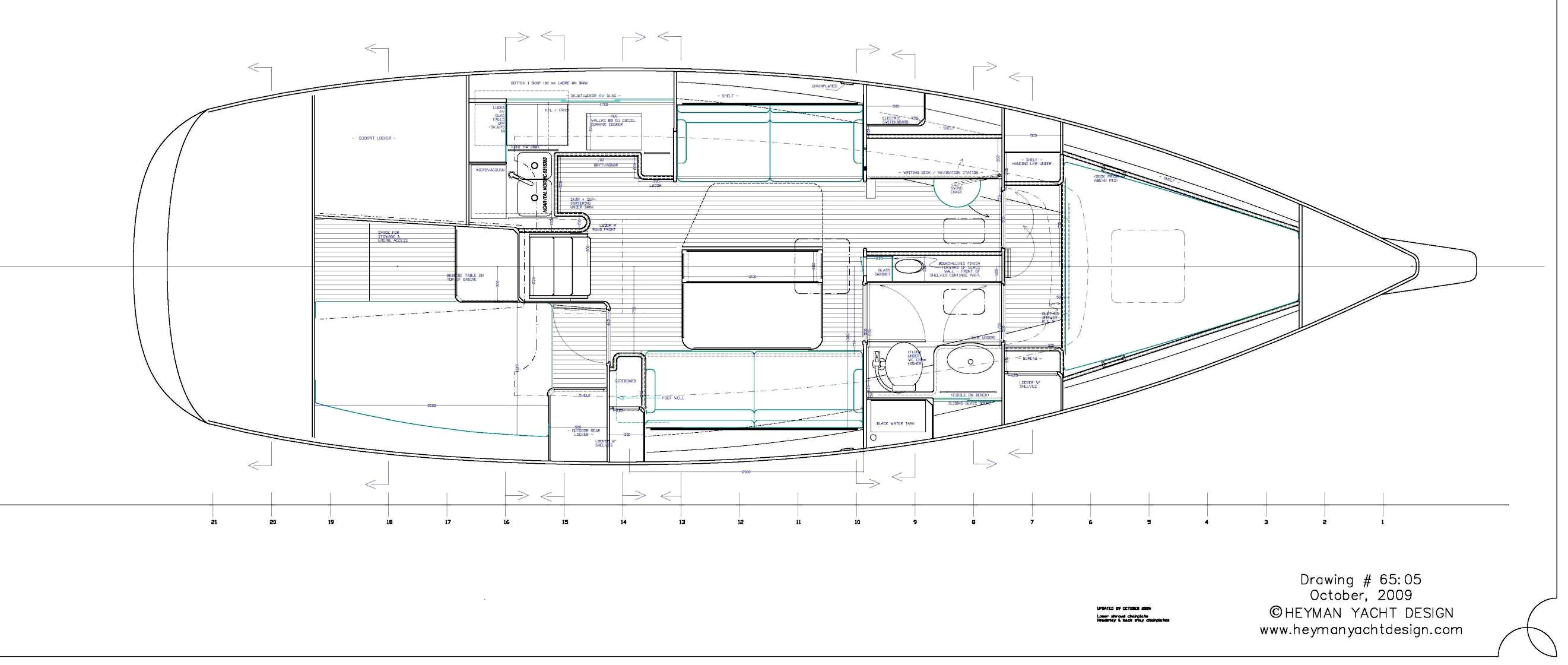 Celeste 36 alternative interior layout