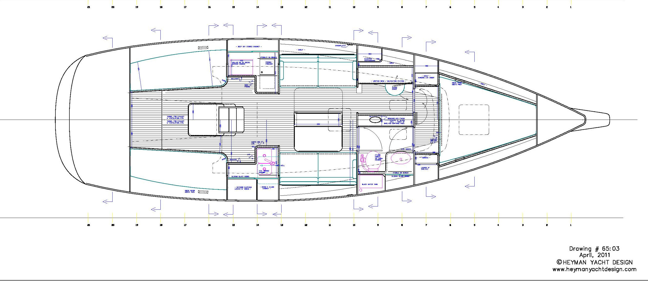 Celeste 36 interior layout