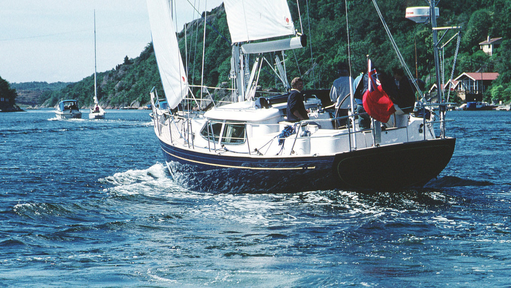 Fantasi 44 #1 'Dawdle' test sail off the Fantasi Yard, Skaftö, Sweden