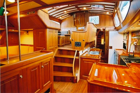 61' galley & pilot house