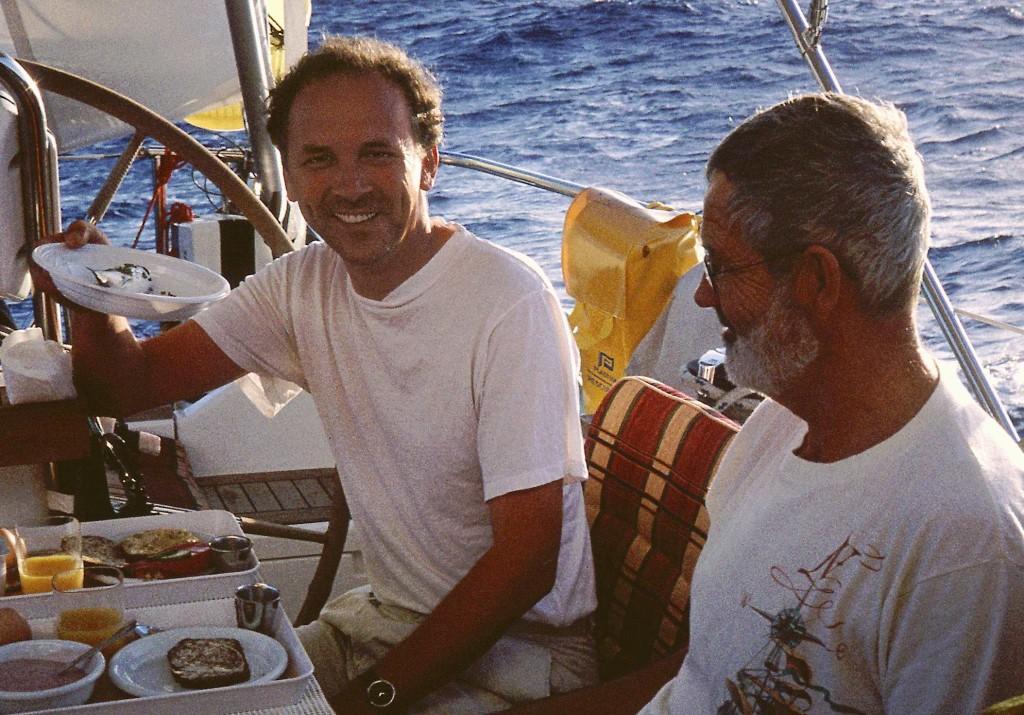 Mid-Atlantic lunch, designer and skipper