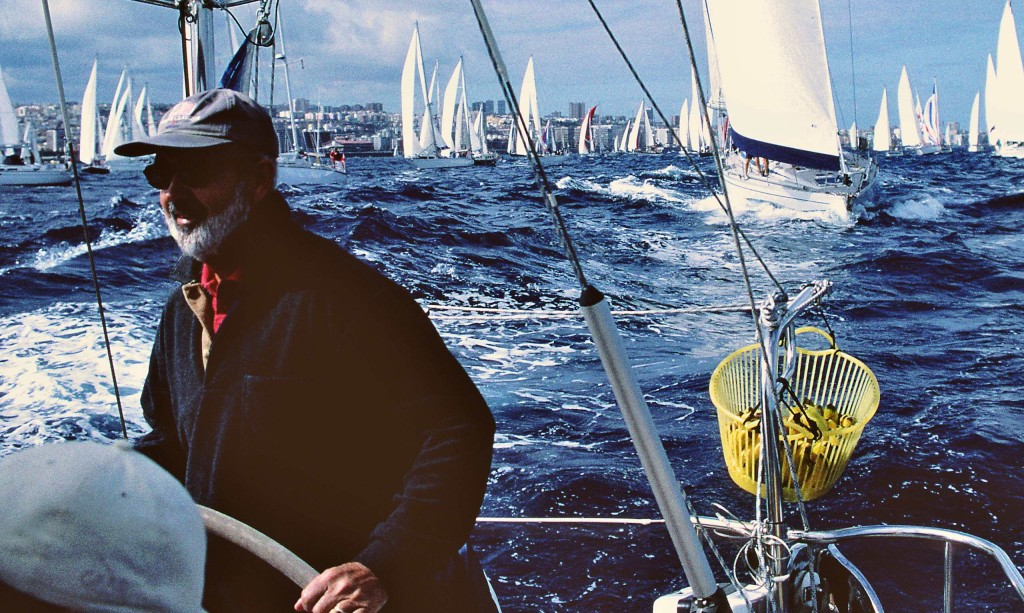 ARC start, F44 outpacing boats of similar size