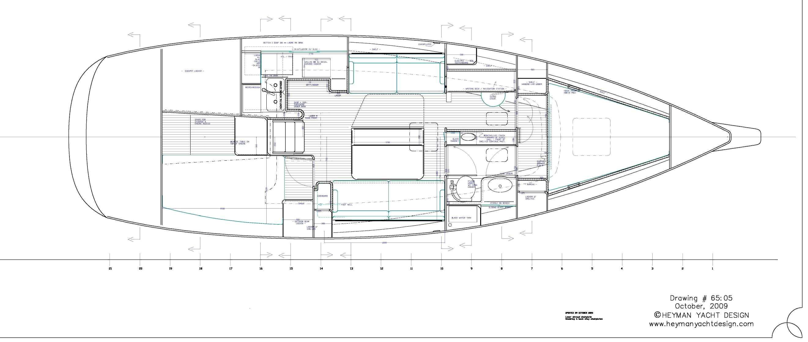 Celeste 36 alternative interior layout