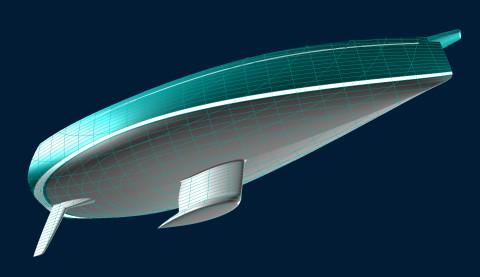 Celeste 36 hull shape