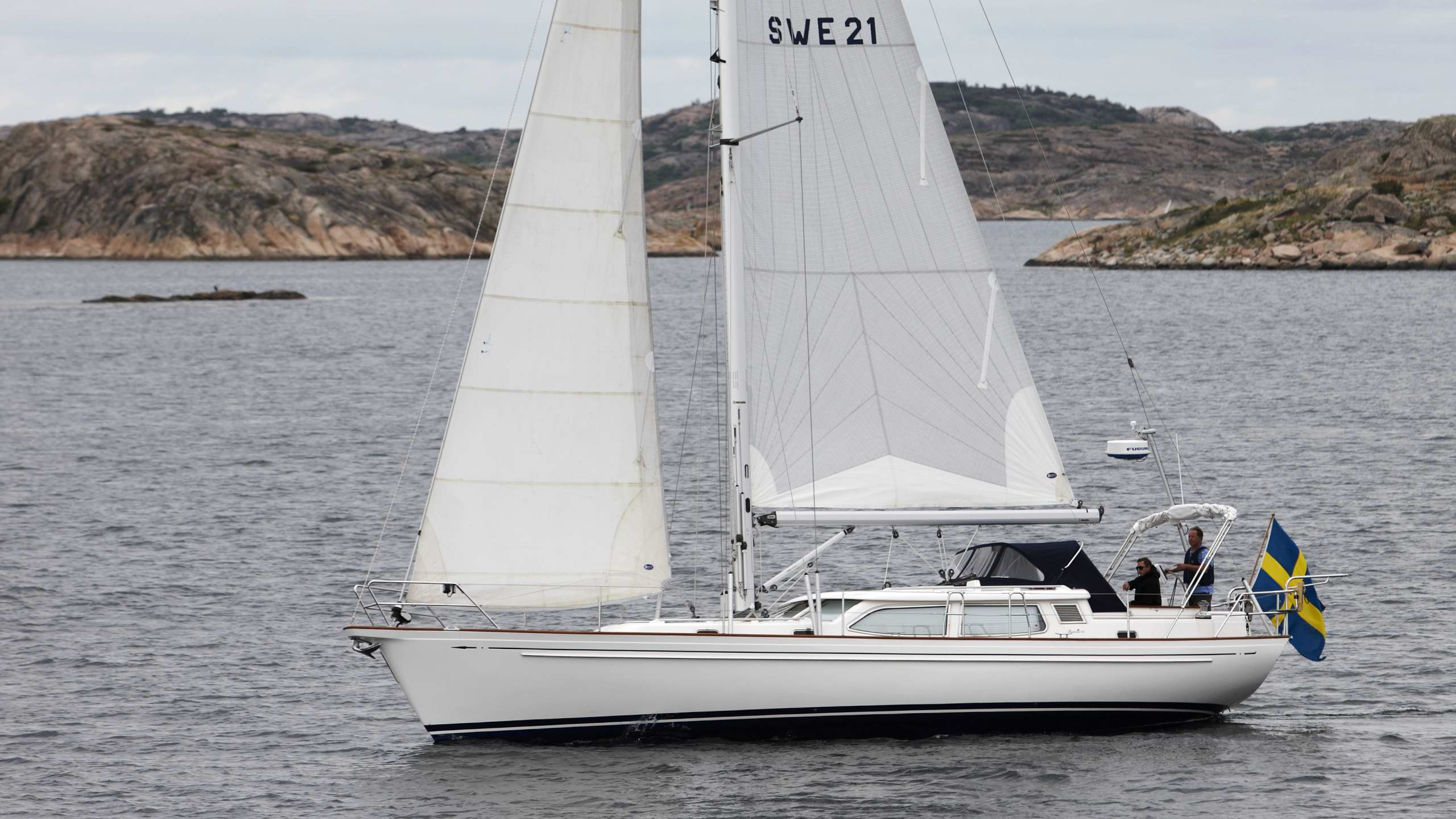The most recent Fantasi 44, finished in 2012 by Fribergs Båtbyggeri in collaboration with Fantasi Yachts
