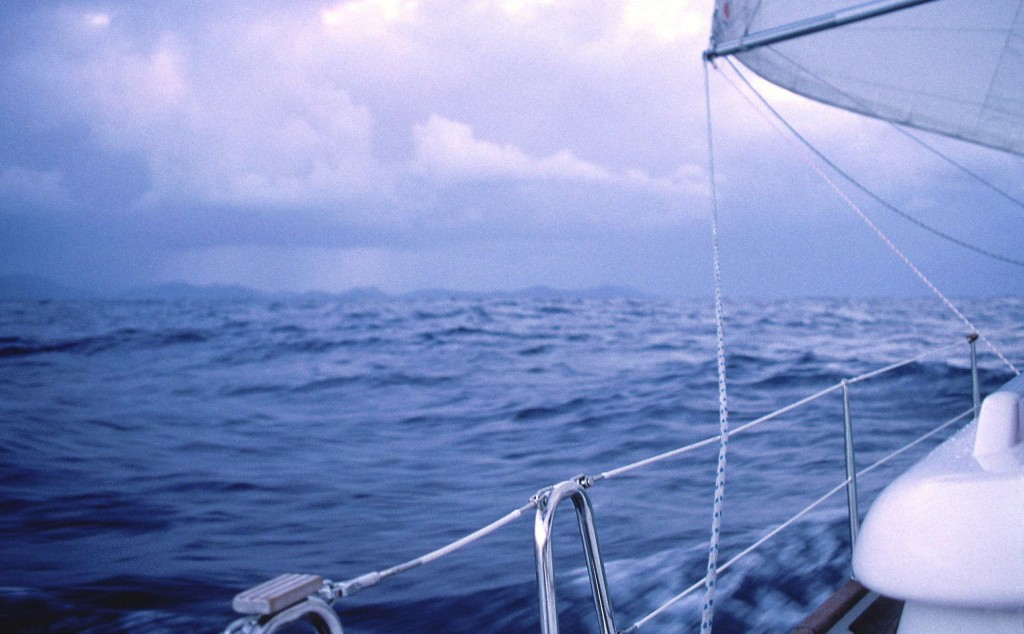 Approaching St Lucia after 16 days