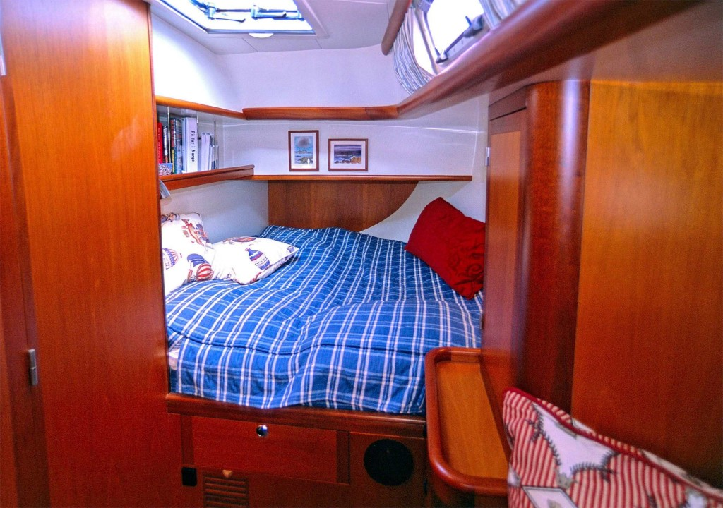 Heyman 57' one of two mirrored aft cabins