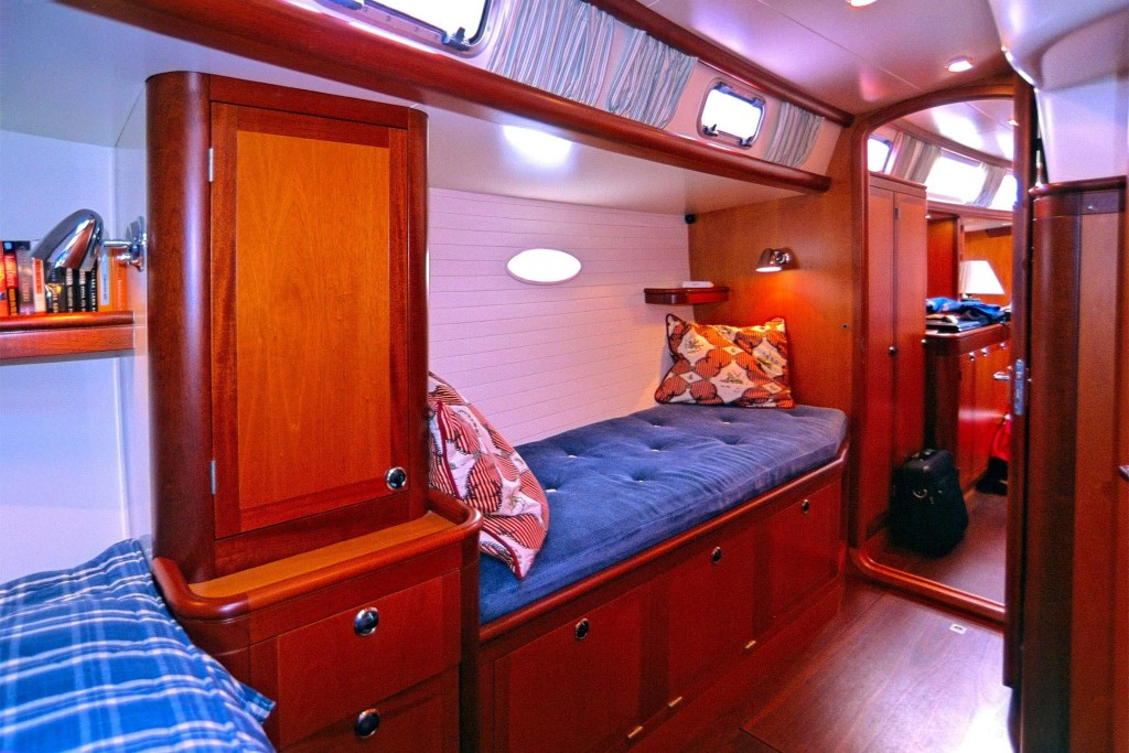 There is a sea berth in each of these cabins