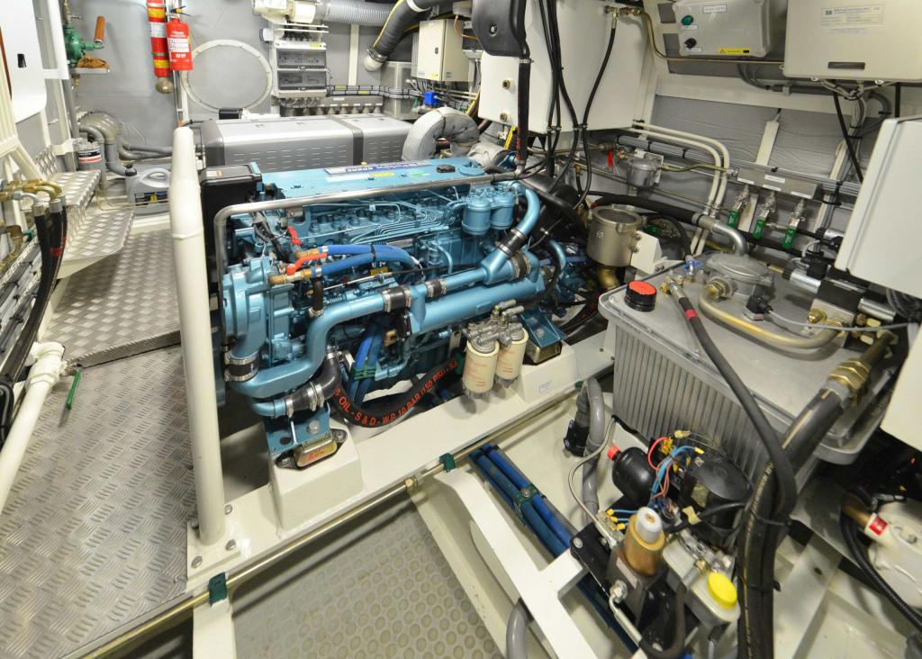 64' full width engine room