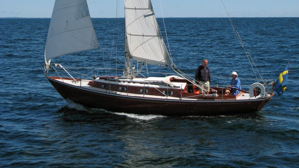 This is the 31' Arietta designed by and built for yacht designer Olle Enderlein, later owned by me for 25 years